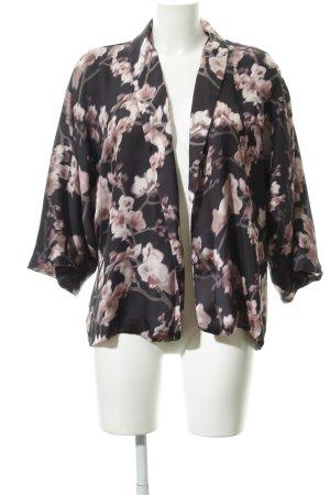 H&M Blouson dunkelblau-hellrosa florales Muster schlichter Stil
