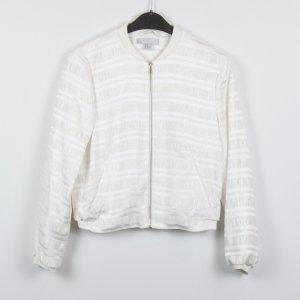 H&M Blouson white mixture fibre