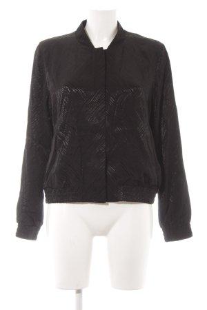 H&M Blouson schwarz abstraktes Muster Casual-Look