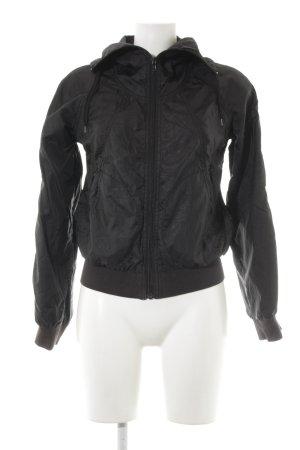 H&M Blouson schwarz-silberfarben grafisches Muster Schimmer-Optik