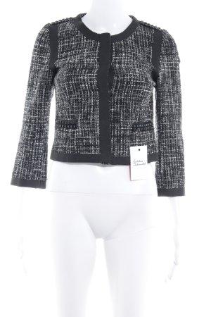 H&M Blouson schwarz-wollweiß Webmuster Dandy-Look