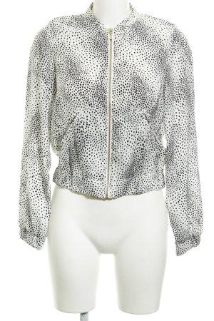 H&M Blouson weiß-schwarz Punktemuster Casual-Look