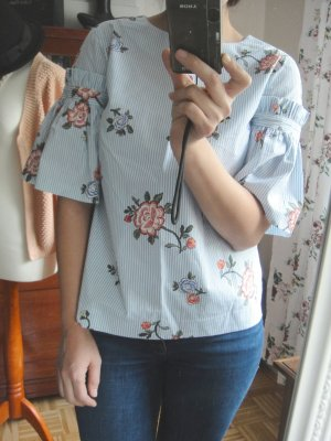 H&M Blümchen Top Bluse Sommer 36 S