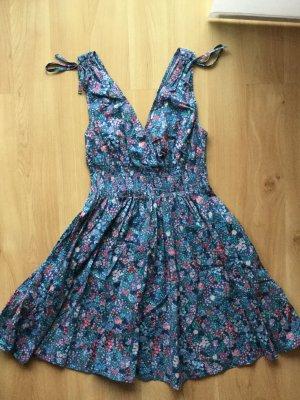 H&M Blumenkleid in blau