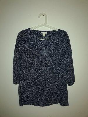 H&M Blouse white-dark blue