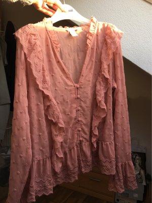 H&M Camicetta con arricciature rosa