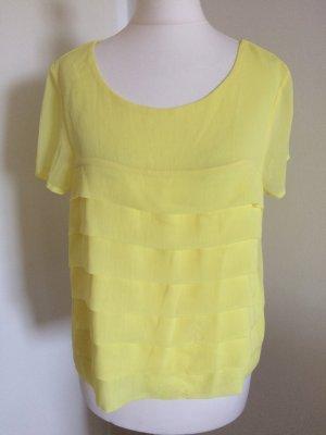 H&M Bluse 38 M neu gelb Volant