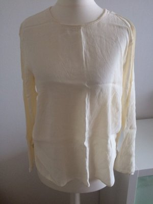 H&M Bluse 38 M nude creme weiß neu Sommer T-Shirt Top Herbst Langarm