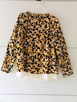 H&M Blouse portefeuille jaune-noir polyester