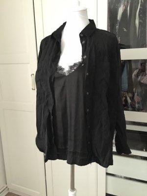 H&M Blouse met lange mouwen zwart