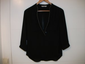 Balmain for H&M Blouse black-silver-colored