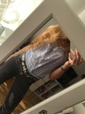 H&M Bluse blau/weiß Größe 38