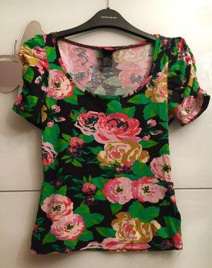 H&M Bluse Blumen t Shirt Bluse Sommer