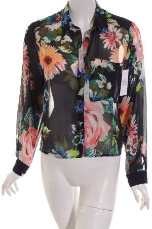 H&M Bluse Blumenmuster Street-Fashion-Look