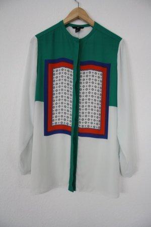 H&M Bluse bunt Langarmbluse