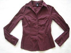 H&M bluse burgund beu gr xs 34 buero