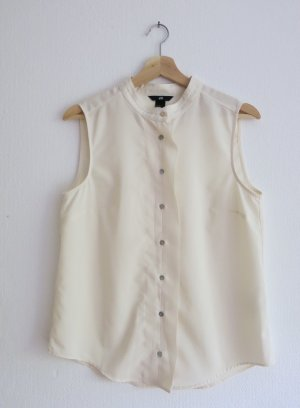 H&M Stand-Up Collar Blouse natural white
