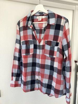 H&M Geruite blouse rood-blauw