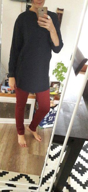 H&M Bluse Crinkle Optik Longbluse Tunika Tunikabluse