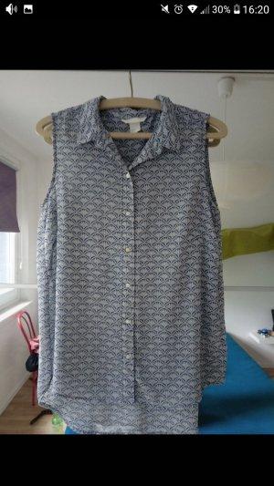 H&M Bluse gemustert blau