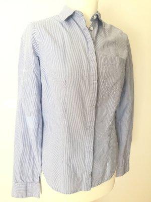H&M Bluse gestreift blau weiß gr 34 langarm
