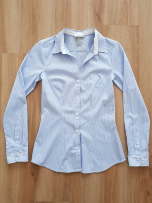 H&M Bluse gestreift blau / weiß Gr. 34 *** NEU ***