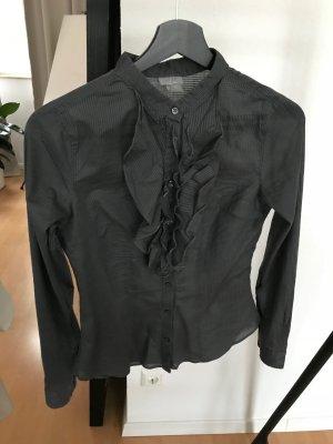 H&M Bluse, gestreift, dunkelgrau