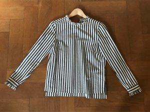 H&M Bluse gestreift grün/weiß