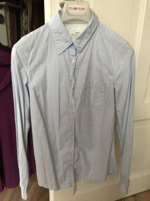H&M Bluse gestreift weiß hellblau Größe S 36 wie neu Divided L.O.G.G.
