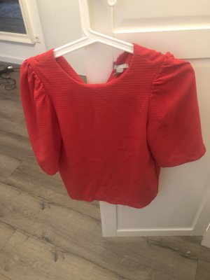H&M Short Sleeved Blouse red