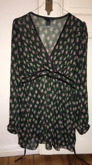 H&M Bluse Gr. 40 transparent Muster