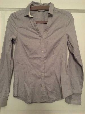 H&M Bluse grau weiß Punkte Gr. 36