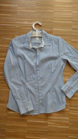 H&M Bluse, Größe 40, hellblau gestreift