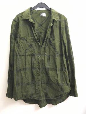 H&M Bluse grün karriert