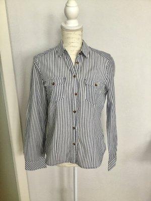H&M Bluse Hemd blau weiß gestreift