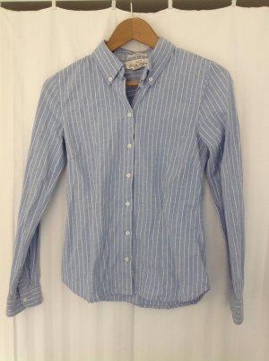 H&M Bluse Hemd gestreift blau weiß XS 34