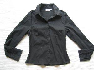 H&M bluse hemd schwraz gr., xs 34 klassiker neu