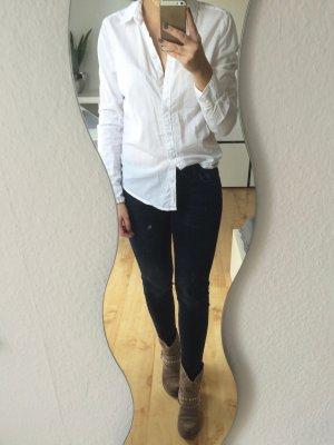 H&M Bluse Hemd weiß schlicht