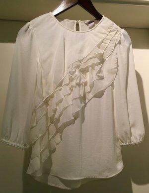 H&M Bluse In Cremefarben...