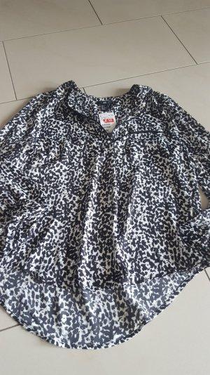 H&M Bluse in schwarz/weiß