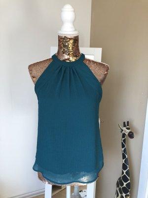 H&M Bluse in Smaragdgrün Damen Gr. 36