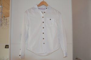 H&M Bluse in weiß mit braun