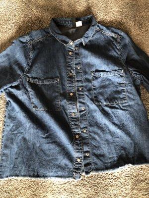 H&M Divided Jeans blouse donkerblauw Katoen