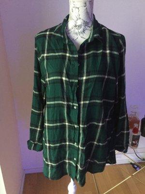 H&M Blouse à carreaux vert foncé