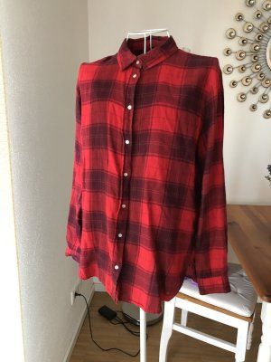 H&M Checked Blouse black-red