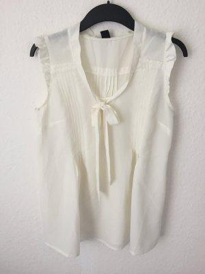 H&M Bluse mit Rüschen Creme