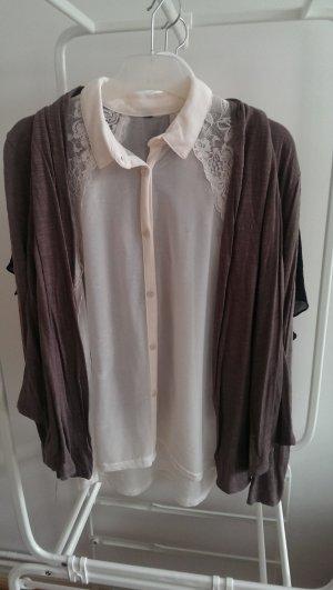 H& M Bluse mit Spitze Gr. S