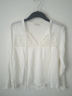 H&M Bluse mit Spitzen Detail