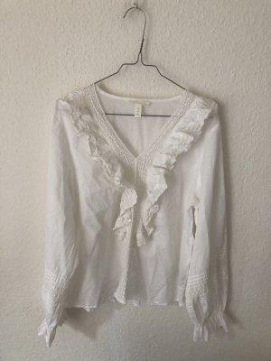 H&M Ruche blouse room-wolwit