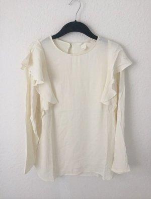 H&M Camicetta con arricciature crema-bianco sporco